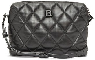 Balenciaga Touch Small B-logo Quilted-leather Cross-body Bag - Womens - Black