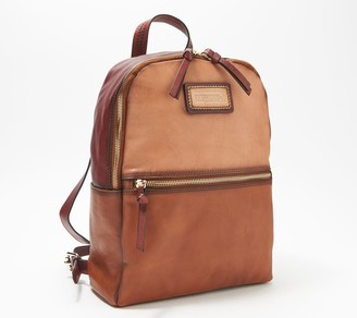 PIKOLINOS Leather Zip-Top Backpack