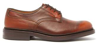 Tricker's Woodstock Leather Derby Shoes - Mens - Brown