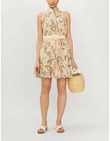 Zimmermann Kirra belted floral-print cotton and silk-blend mini dress