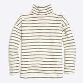 J.Crew Factory Striped long-sleeve mock-neck pullover