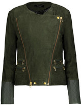 Muu Baa Muubaa Gloster Leather-Trimmed Suede Biker Jacket