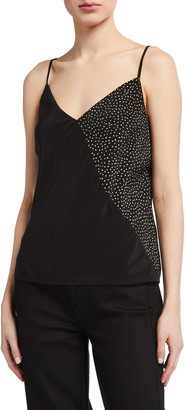 7 For All Mankind Cross-Front Printed Cami