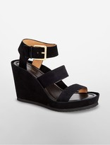 Calvin Klein Hailey Suede Wedge Sandal