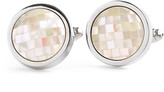 Johnston & Murphy Faceted Mother-of-Pearl Circle Cufflinks
