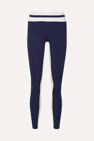Vaara Flo Tuxedo Striped Stretch Leggings - Navy