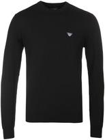 Armani Jeans Black Crew Neck Sweater
