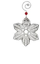 Waterford Crystal Annual Ornaments Mini Snowflake