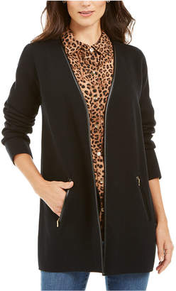 Charter Club Milano Cotton Open-Front Cardigan
