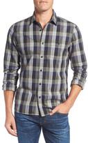 Nordstrom Men&s Shop Utility Check Sport Shirt (Big)
