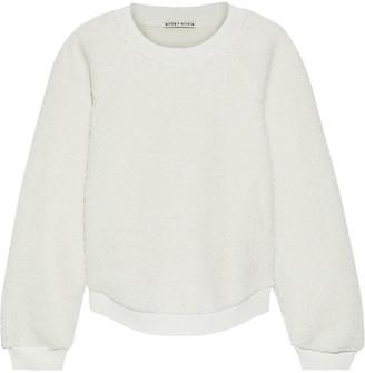 Alice + Olivia Calvin Faux Shearling And Jersey Sweatshirt