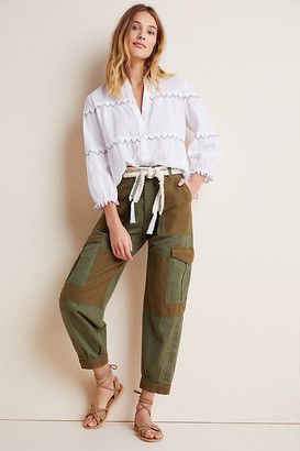 Citizens of Humanity Colorblocked Cargo Pants By in Green Size 25