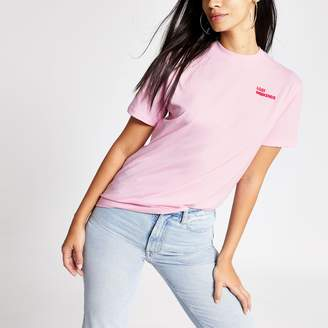 River Island Womens Tee & Cake Pink 'Lost weekends' T-shirt
