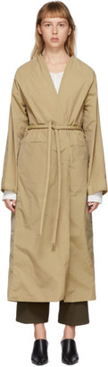 Kassl Editions Tan Taffeta Trench Coat