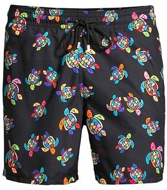 Vilebrequin Over The Rainbow Turtles Swim Shorts
