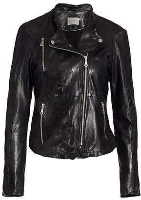 Gestuz Joanna Leather Moto Jacket