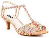 Alex Marie Lanelle Watercolor Leather Dress Sandals