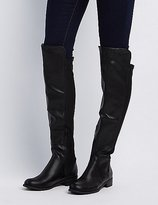 Charlotte Russe Gored Over-The-Knee Riding Boots