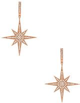 Shashi Aria Drop Earrings in Metallic Copper.