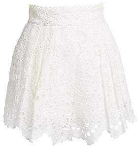 Women`s Bowie Scalloped Eyelet Shorts