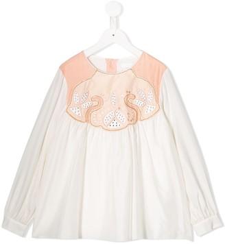 Chloé Kids silk tunic top