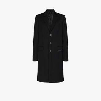 Givenchy Logo Band Single-Breasted Coat