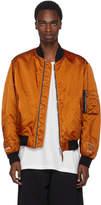 Heron Preston Orange Heron Short Bomber Jacket