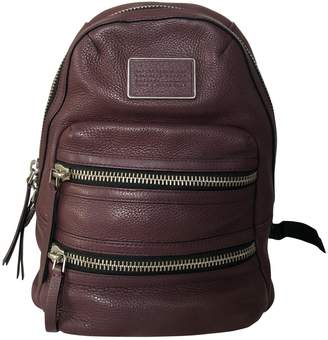 Marc by Marc Jacobs Burgundy Leather Backpacks