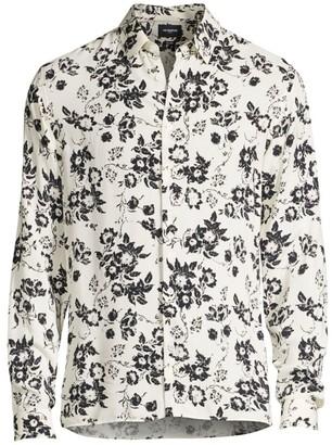 The Kooples Long-Sleeve Floral-Print Shirt
