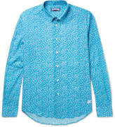Vilebrequin Turtle-print Cotton Shirt - Teal
