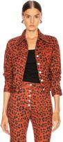 Miaou Lex Jacket in Red Leopard | FWRD