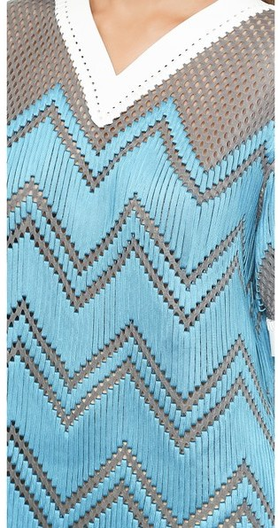 Alexander Wang V Neck Dress with Shoelace Embroidery