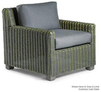 Eddie Bauer Traverse Patio Chair with Sunbrella Cushions Frame Color: Brown/Tan, Fabric Color: Spectrum Indigo