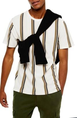 Topman Luke Classic Fit Stripe Pique T-Shirt