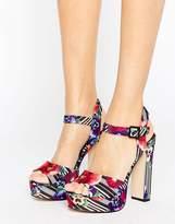 Aldo Platform Floral Sandals