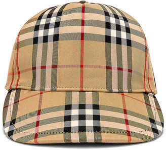 Burberry Heavy Cotton Check Trucker Cap in Archive Beige | FWRD