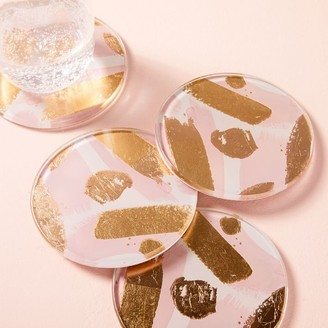 west elm Gilded Brushstrokes Coasters (Set of 4)