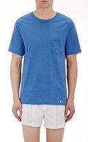 Hanro Men's Jersey T-Shirt-BLUE