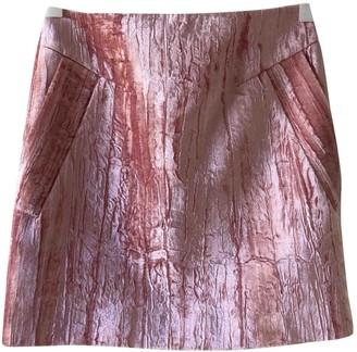 Topshop Tophop Unique Pink Velvet Skirt for Women