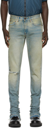 Off-White Off White Blue Vintage Split Slim-Fit Jeans
