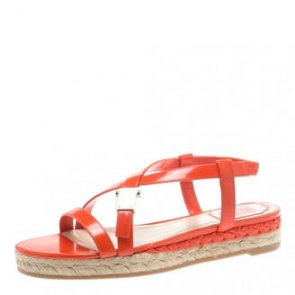 Christian Dior Orange Leather Sandals