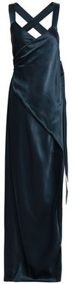 Mason by Michelle Mason Silk-charmeuse Maxi Wrap Dress