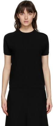 S Max Mara Black Tea Short Sleeve Sweater