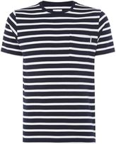 Peter Werth Men's Press Two Colour Stripe Cotton T-Shirt