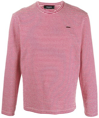 DSQUARED2 striped long-sleeve T-shirt
