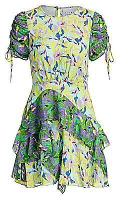 Tanya Taylor Women's Corinne Floral Silk-Blend Dress - Size 0