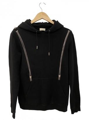 Saint Laurent Black Cotton Knitwear & Sweatshirts
