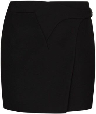 Wardrobe NYC Belted Wrap Mini Skirt