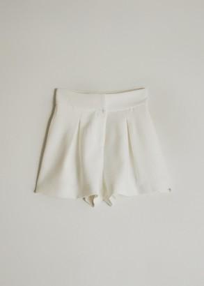 Stelen Women's Milena Front Pleat Short in White, Size Small   Spandex