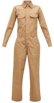 Ganni Crystal-applique Shell Jumpsuit - Womens - Beige